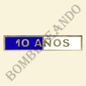 Barra Blanca y Azul 10 Años