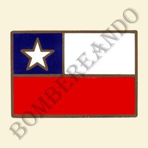 Barra Bandera Chilena (Para Porta Estandarte)